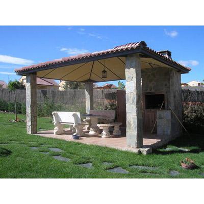 instalación de pérgolas en jardínes
