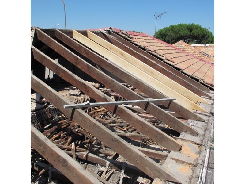 reparación de tejado antiguo