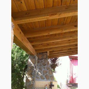 construcción de porches de madera