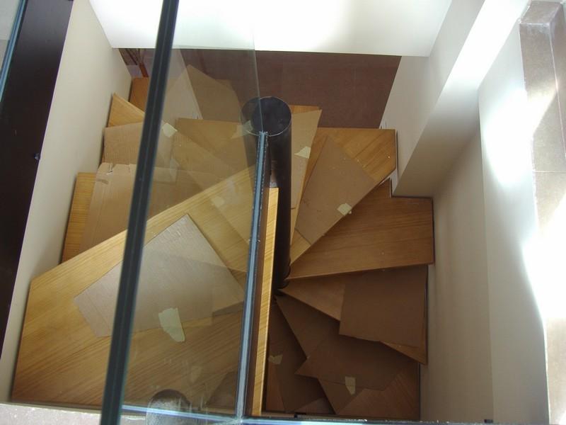 construcción de escaleras de caracol